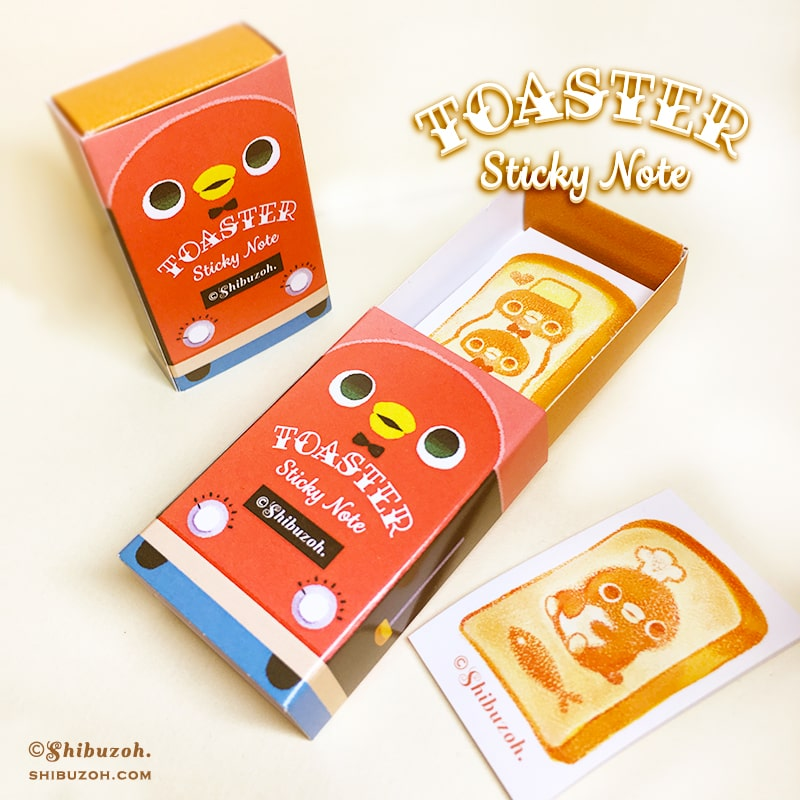 【11/12完成版更新】TOASTER Sticky Note