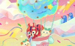 ミントアイスの気球に乗って